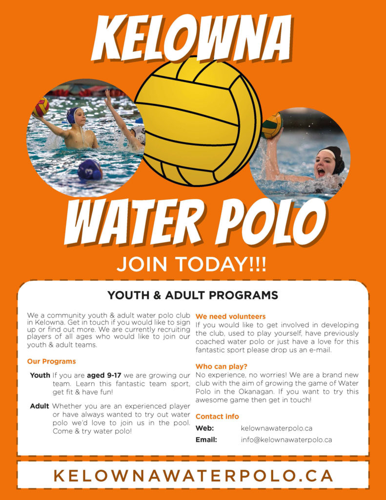 Welcome to Kelowna Water Polo Club